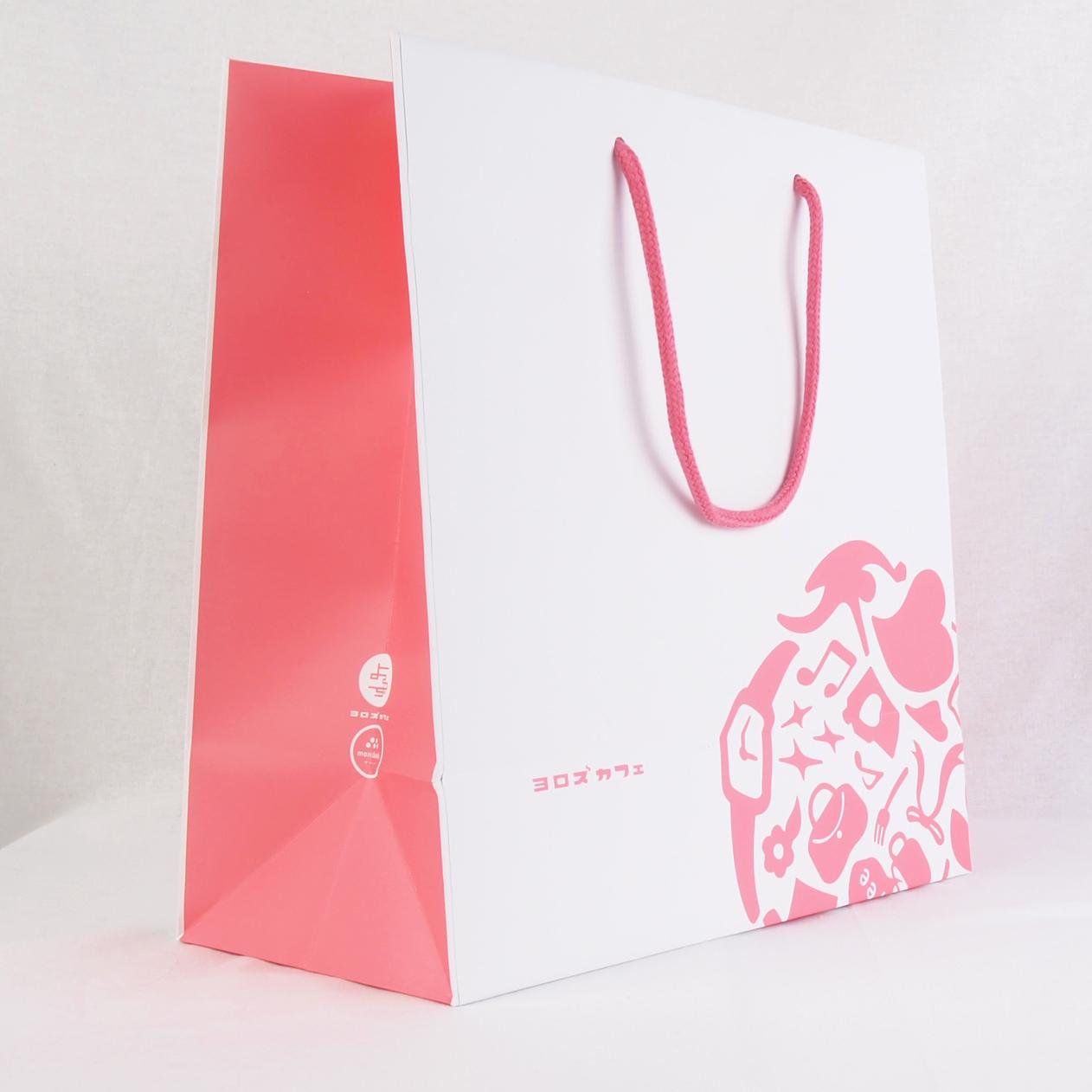 コート紙素材の紙袋サンプル1