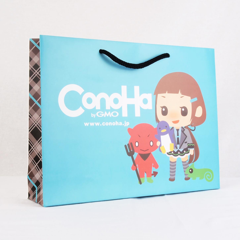 コート紙素材の紙袋サンプル3